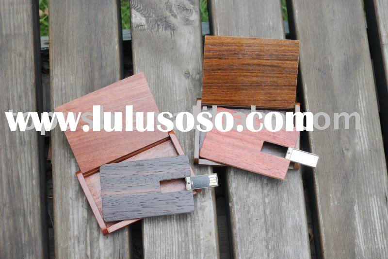 wood credit card size usb/ business name card usb flash drives