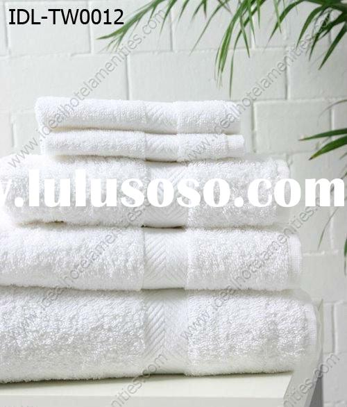 100% cotton high quality satin border hotel towel