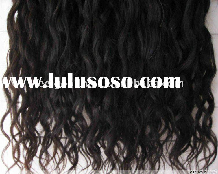100% curly Indian remy hair weave