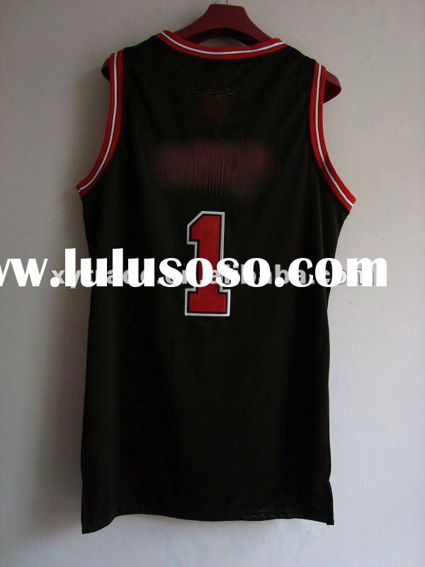 100% polyester throwback basketball jerseys for promotion