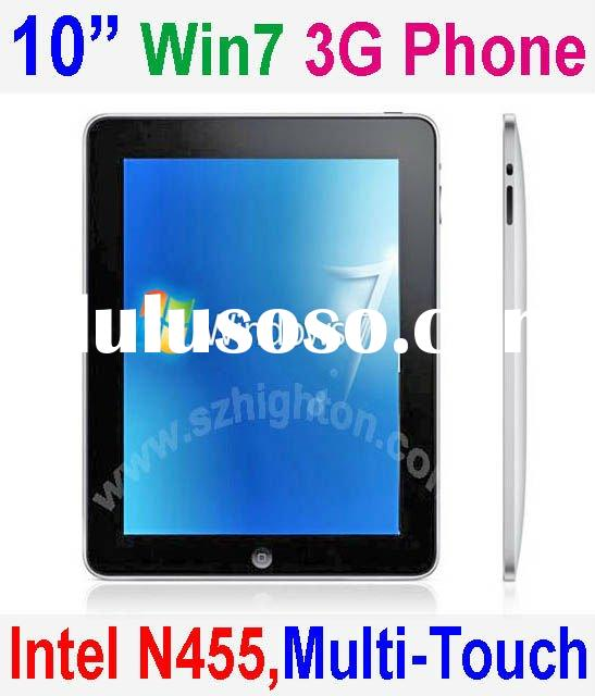"10"" 10.2"" 10.2 inch Intel Atom N455 Multi-touch windows7 Mobile Phone or Cell Phone or Sma"