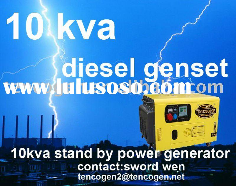 10kva silent type diesel generator set with single and three phase