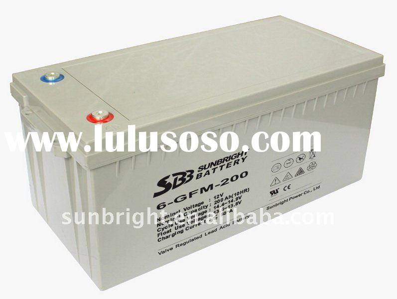 12V200AH VRLA Deep cycle sealed lead acid battery,long cycle life