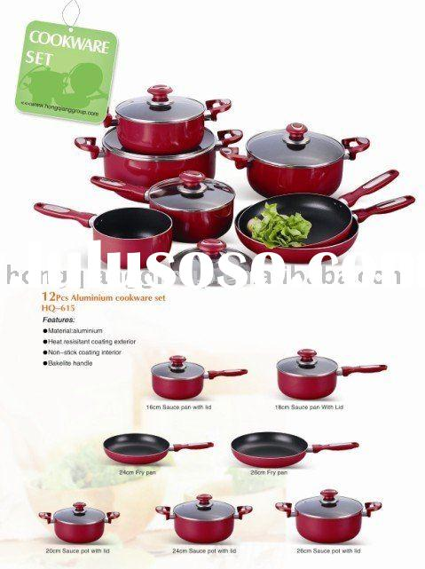 12 pcs Heat resistant Aluminium cookware set