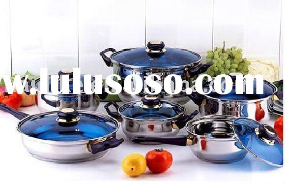 12pcs stainless steel cookware set(frypan, pot,casserole,saucepan)