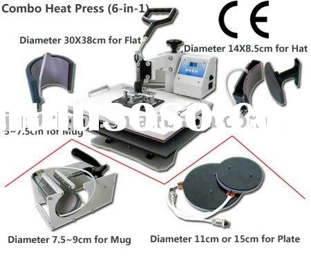 "15*15"" t-shirt mug plate hat 6 in 1 digital Heat Press transfer Machine"