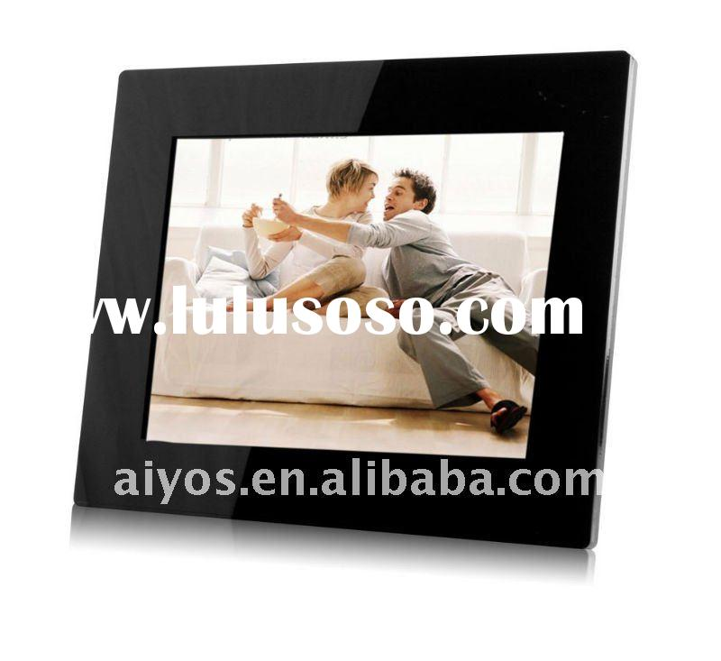15 inch digital photo frame with battery built in and 4-light-tube high quality screen