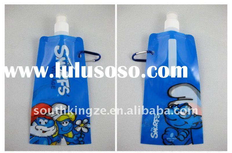 16oz BPA free the Smurfts collapsible water bottles