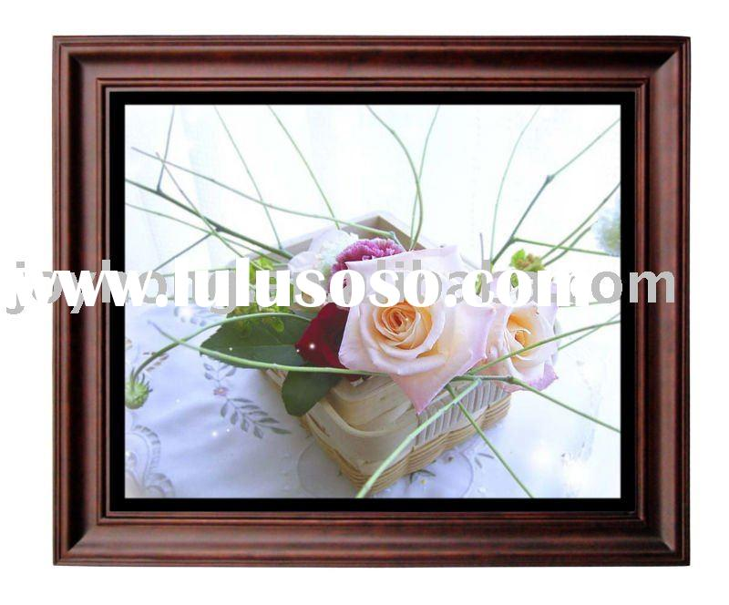 17 inch wooden digital photo frame wifi