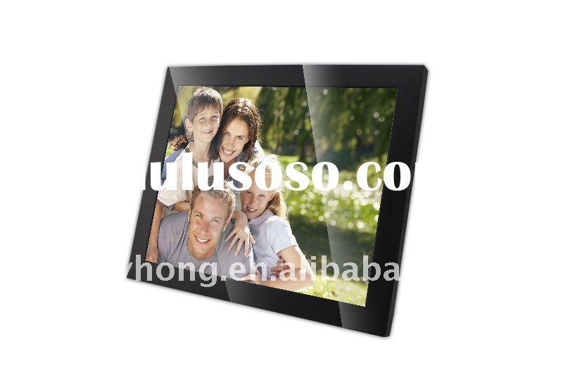 19 inch wooden digital photo frame new design