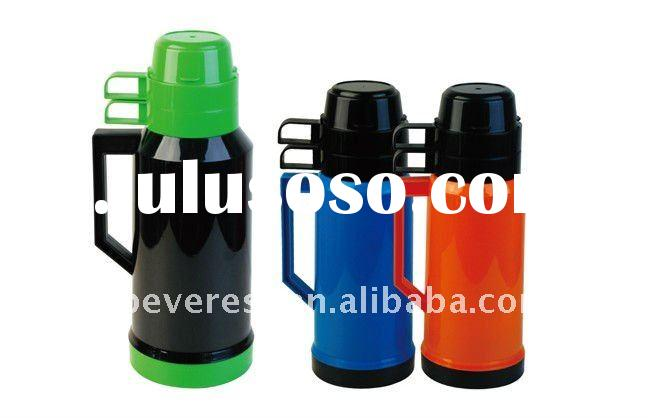 1.8L or 1000ml Plastic thermos bottle with 2 cups PP body glass liner