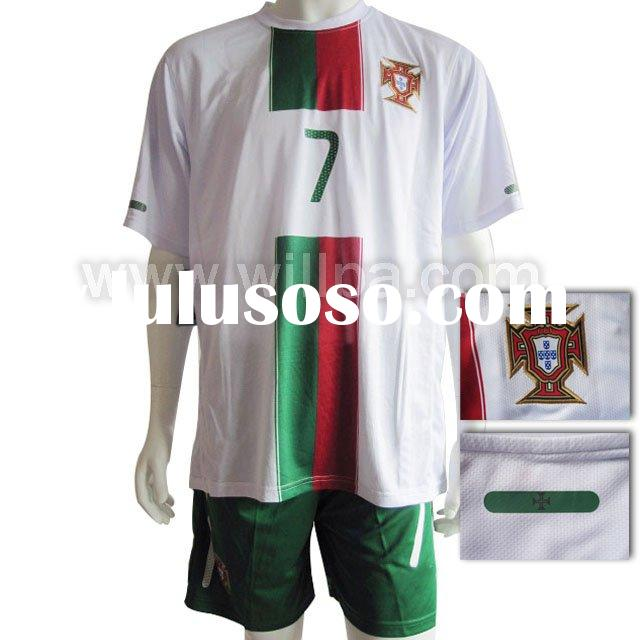 2010 National Portugal Away white Soccer Jersey #7 RONALDO