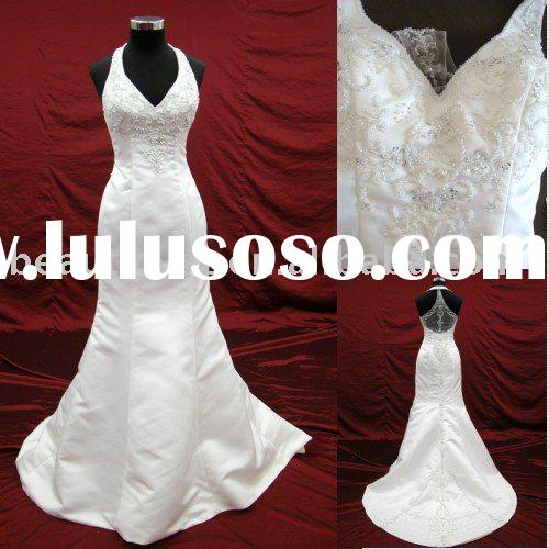 2010 halter japanese style wedding dress,bridal gown aster102468