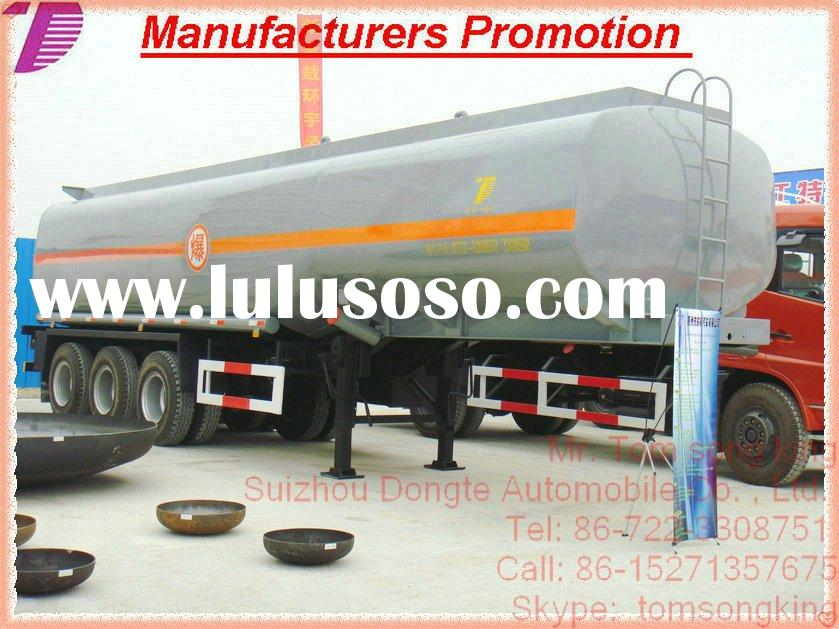 2011DTA 2/3 Axle plastic- lined steel chemical liquid tanker semi trailer,semi-trailer for HCL, NaOH