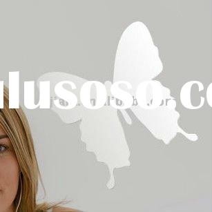 2011New House Decorative Butterfly PET Mirror Decal bright wall/window sticker