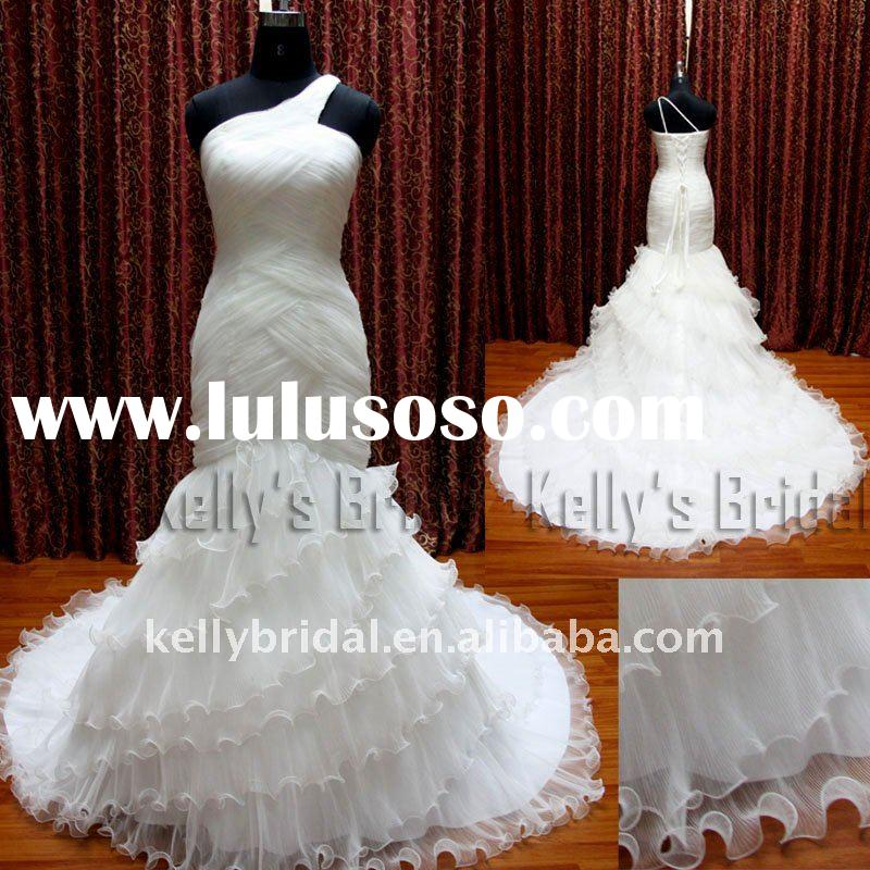 2011- 2012 Hot-selling Mermaid Tulle Designer Wedding Dress