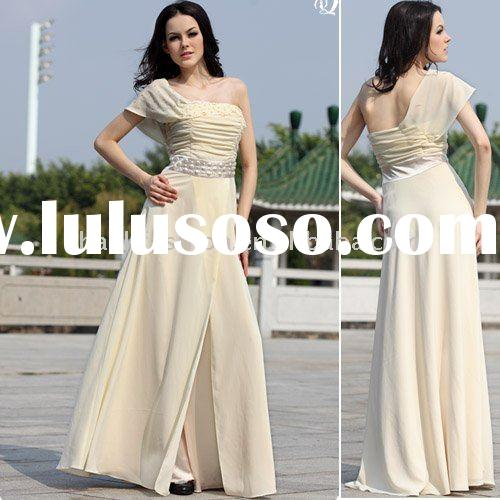 2011 DORIS 30060 wholesale agency retail chiffon one-shoulder cap sleeve african dresses