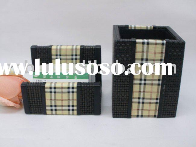 2011 New Design crocodile leather stationery/Leather home decoration/MDF Furniture/Leather furniture