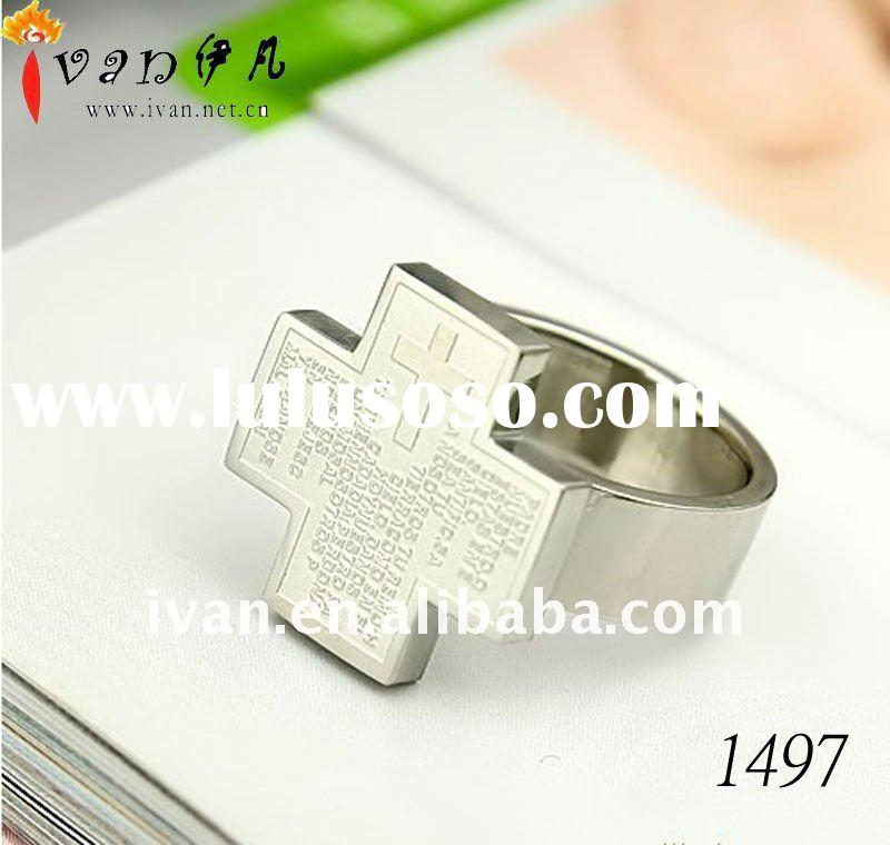 2011 New Fashion Mens Stainless Steel Rings