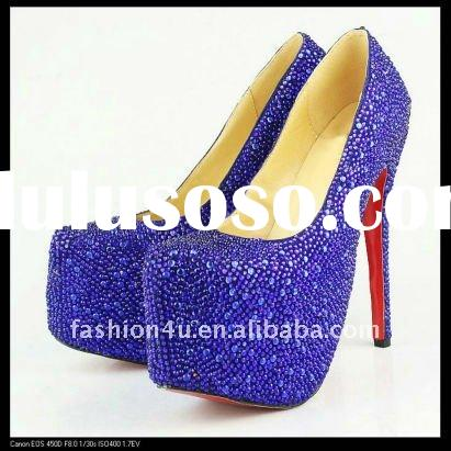2011 New Womens Fashion High Heels Shoes Blue
