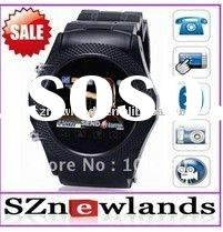 2011 Newest Wrist Watch Mobile Phone W960 Unlocked QuadBand Stainless Steel Touch Screen MP3/MP4 FM