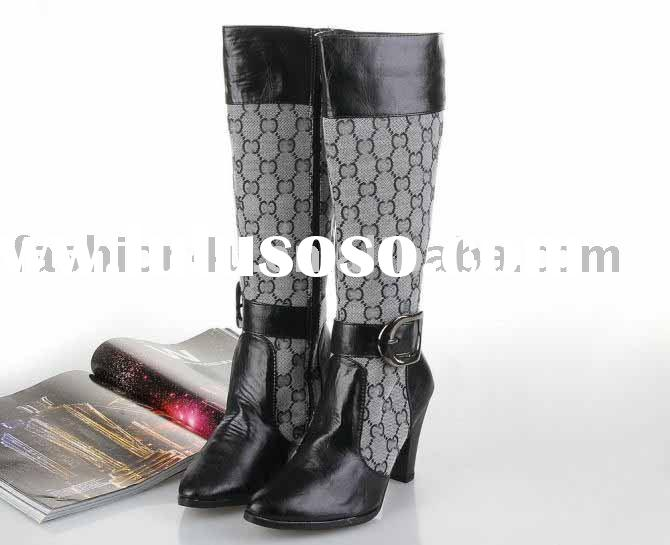 2011 Wholesale Fashion Ladies High Heels Boots Shoes