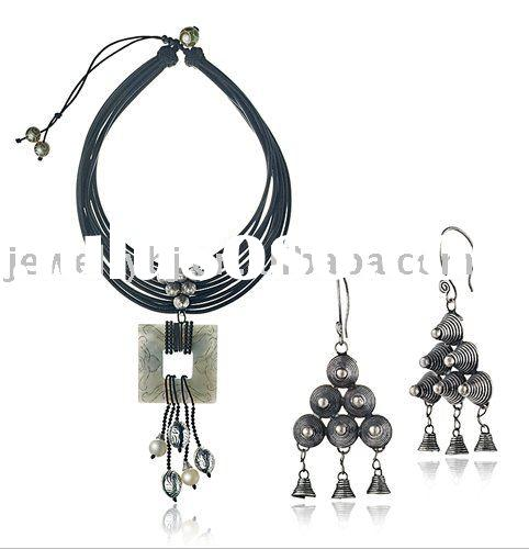 2011 latest design vintage style jewelry sets, neckalce and earrings