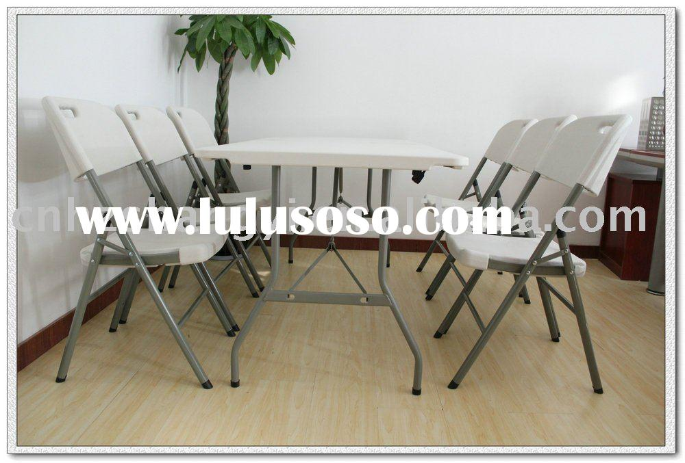 2011 new design 6ft school kids plastic folding table and chairs