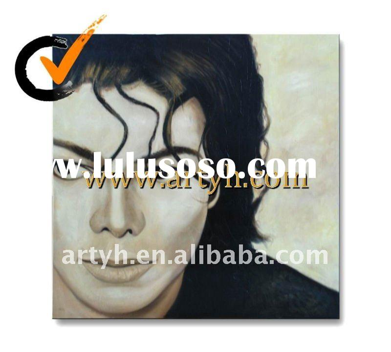 2011 newest famous canvas art oil painting(Michael Jackson )
