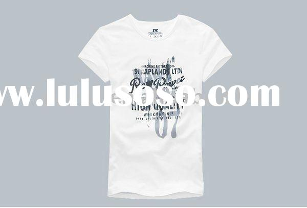2011 promotional plain white T shirts with V neck design