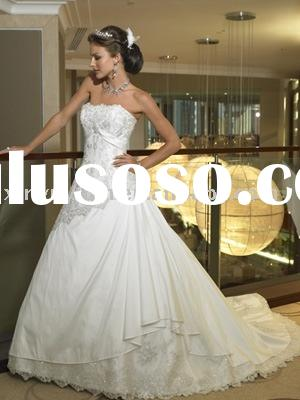2011 strapless modest and vintage lace wedding dresses wd381