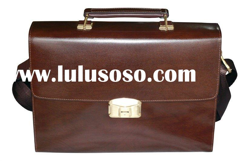 2012 New Fashion Men Brand Leather Shoulder Briefcase Handbags Laptop Bag HF-FC01