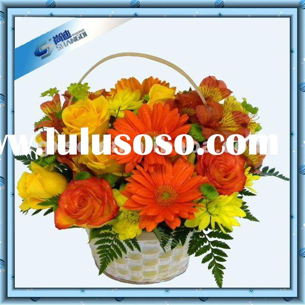 2012 New Handmade Bamboo Flower Basket Wedding Decoration