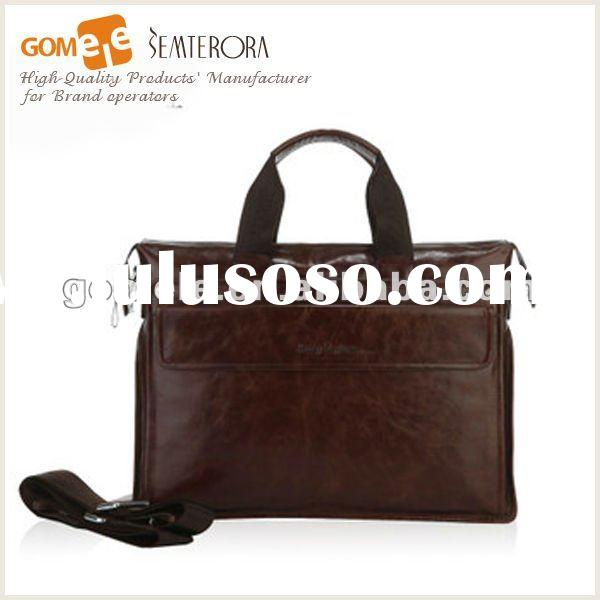 2012 New arrival man's handmade leather briefcase & Tote Bag
