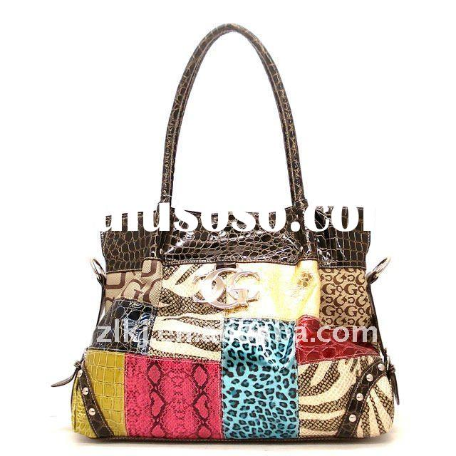 2012 Newest!SS High quality fashion patchwork handbag
