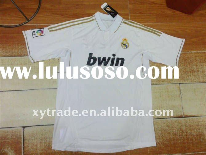 2012 Newest fashion real madrid soccer jersey thailand quality Free Shipping
