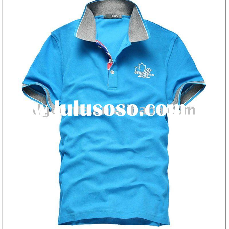 2012 Summer Newest High Quality Design Plain Fashion Cotton Polo Shirts T-Shirts Printing Sportwear