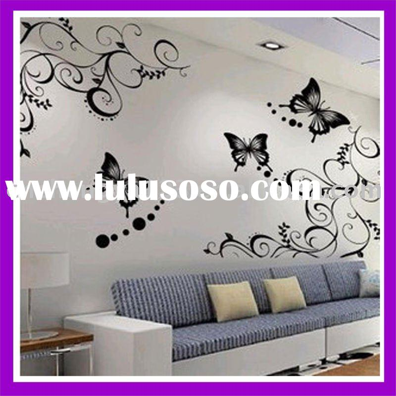 2012 butterfly TV background decorative adhesive removable wall sticker
