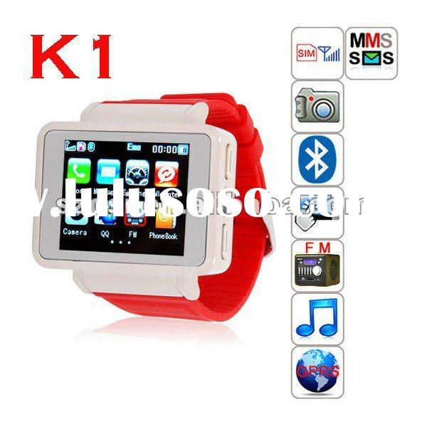 2012 new Quadband GSM unlocked watch phone with bluetooth camera mp3 mp4 E-book