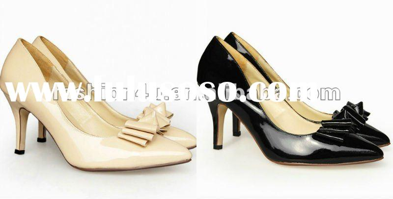 2012 new fashion brand leather high heel bridal shoes