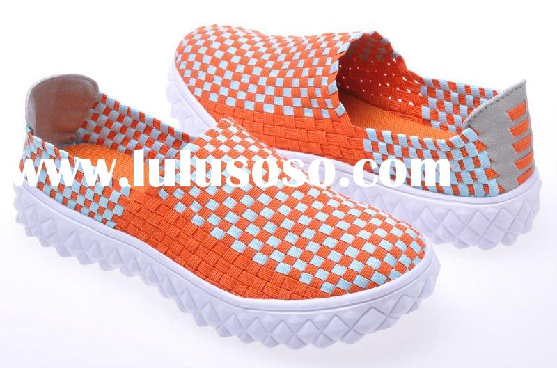 2012 new fashion style leisure shoes weave shoes for women