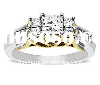 2012 newest jewelry fashion women's fine 18k gold rings