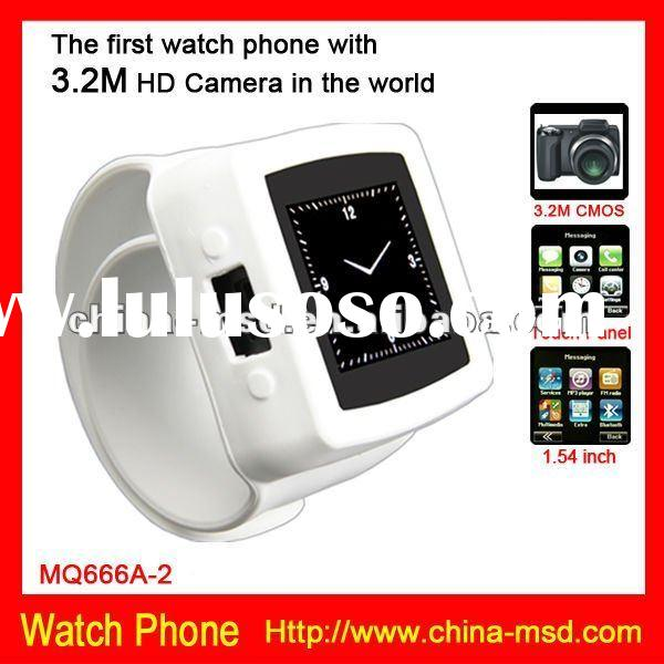 2012 newest mobile phone watch MQ666 with 3.2M HD camera for Iphone