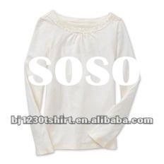2012 spring cute lady style top quality women cotton t shirt new design 073