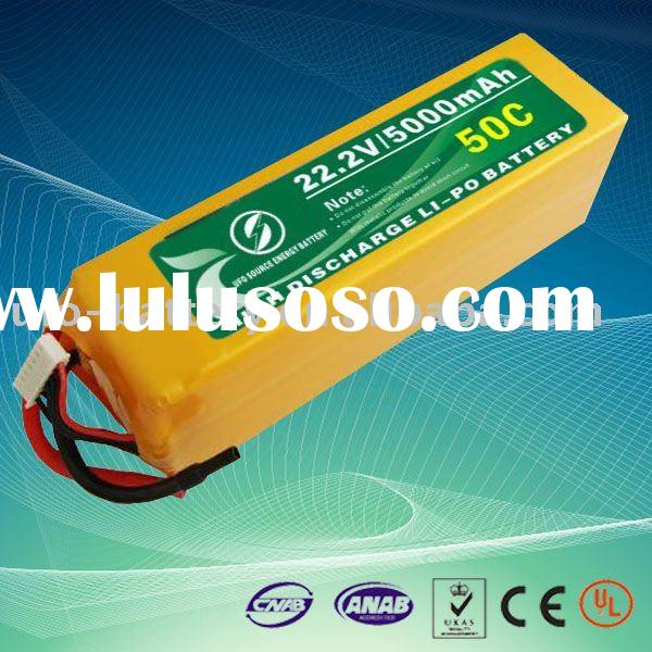 22.2V 6S 5000mAh 50C high discharge lipo battery for rc helicopter