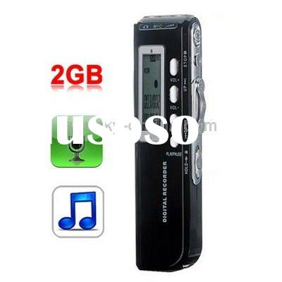 2GB Digital Voice Recorder Dictaphone MP3 Player, Support Telephone recording, VOX function, Power s