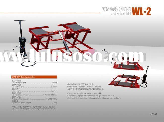 3 Ton Small Platform Mobile Scissor Car Lift for Alignment (WL Series Low-Rise)