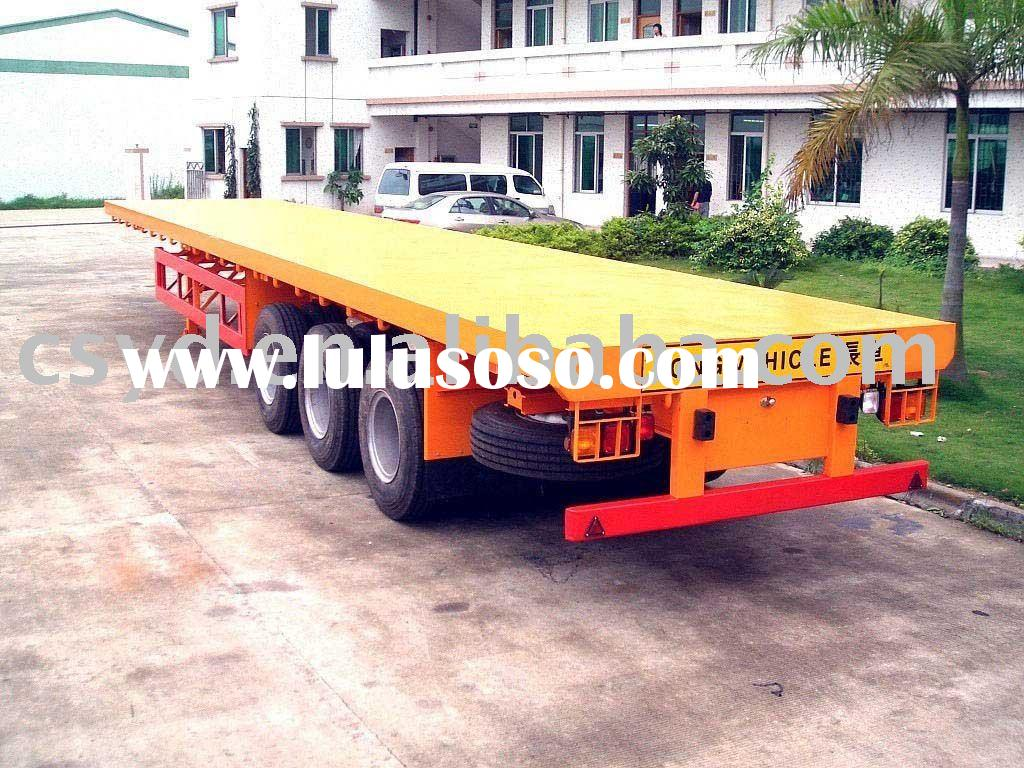 3 axle flatbed semi trailer/20FT/40FT/45FT container semi-trailer
