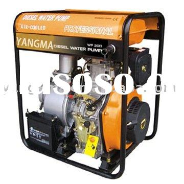 4 inch single cylinder electric start portable diesel water pump