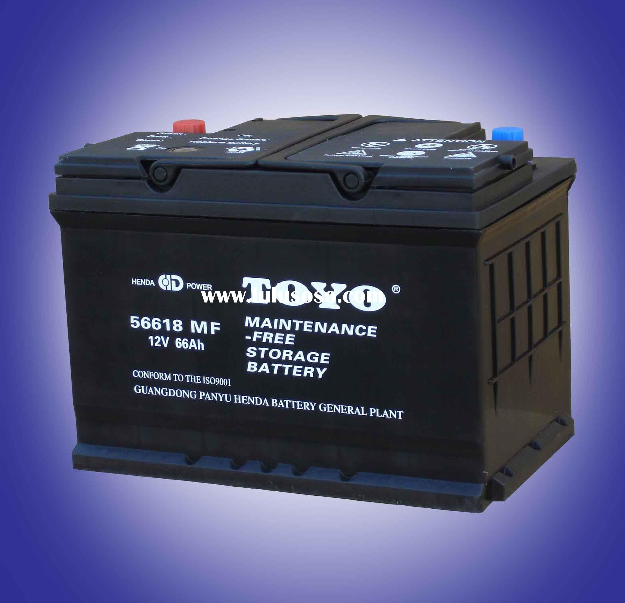 56638 Maintenance Free Starting Car Battery; MF auto battery